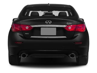 2015 INFINITI Q50 Pictures Q50 Sedan 4D Premium V6 Hybrid photos rear view