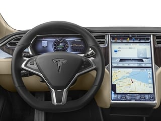 2016 Tesla Motors Model S Pictures Model S Sed 4D D Performance 90 kWh AWD Elec photos driver's dashboard