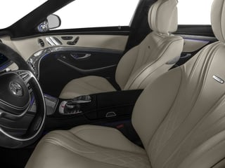 2017 Mercedes-Benz S-Class Pictures S-Class AMG S 63 4MATIC Sedan photos front seat interior