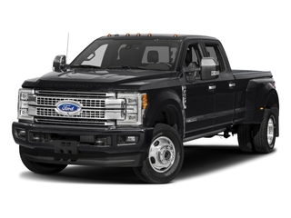 2018 Ford Super Duty F-350 DRW Pictures Super Duty F-350 DRW Platinum 4WD Crew Cab 8' Box photos side front view
