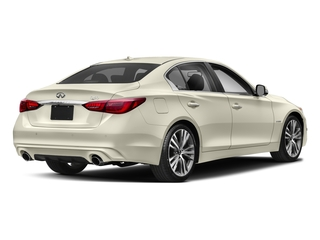 2018 INFINITI Q50 Pictures Q50 Hybrid LUXE RWD photos side rear view