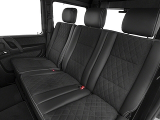 2018 Mercedes-Benz G-Class Pictures G-Class G 550 4x4 Squared SUV photos backseat interior