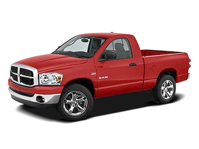 2008 Dodge Ram 1500 Pictures Ram 1500 Regular Cab SXT 4WD photos side front view