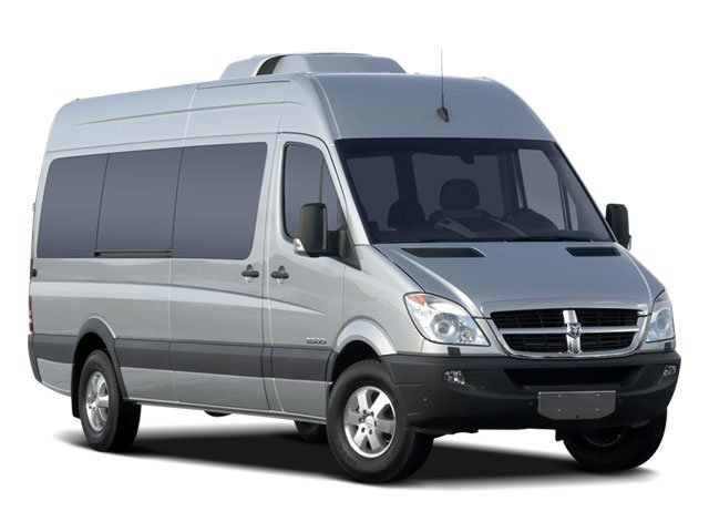 2008 Dodge Sprinter Wagon Prices and Values Extended Passenger Van side front view