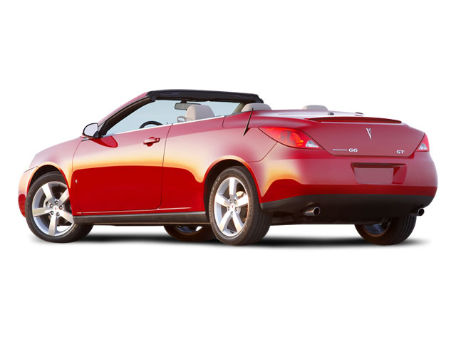 2008 Pontiac G6 Prices and Values Convertible 2D GT side rear view