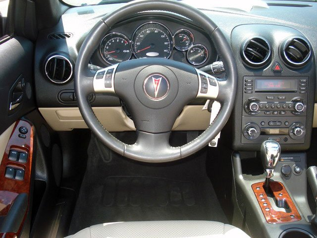 2008 Pontiac G6 Prices and Values Convertible 2D GT driver's dashboard