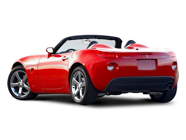2008 Pontiac Solstice Prices and Values Roadster 2D GXP Club Sport side rear view