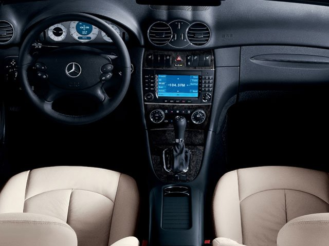 2009 Mercedes-Benz CLK-Class Prices and Values Coupe 2D CLK350 full dashboard