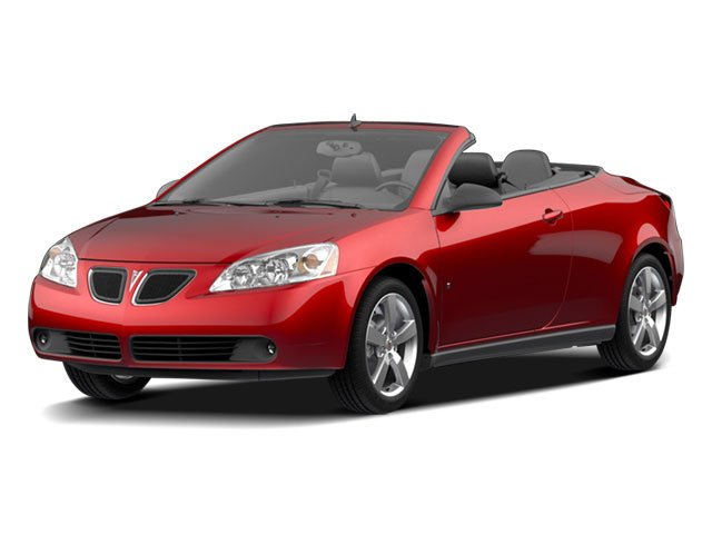 2009 Pontiac G6 Prices and Values Convertible 2D GT side front view