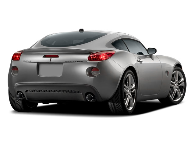 2009 Pontiac Solstice Prices and Values Coupe 2D side rear view