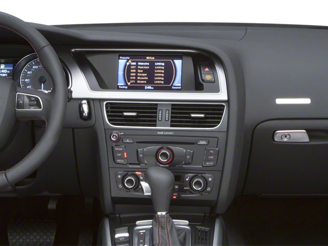 2010 Audi S5 Prices and Values Convertible 2D Quattro center dashboard