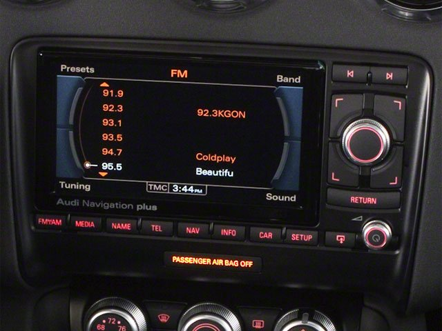 2010 Audi TT Prices and Values Roadster 2D Quattro navigation system