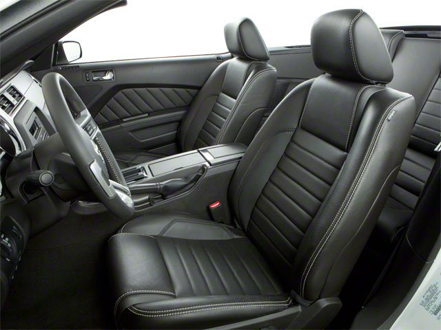 2010 Ford Mustang Prices and Values Convertible 2D front seat interior