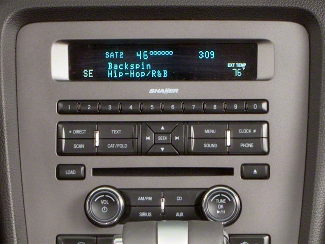 2010 Ford Mustang Prices and Values Convertible 2D stereo system