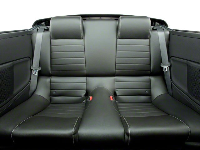 2010 Ford Mustang Prices and Values Convertible 2D backseat interior
