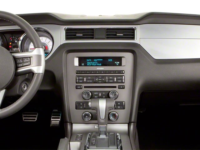 2010 Ford Mustang Prices and Values Convertible 2D center dashboard