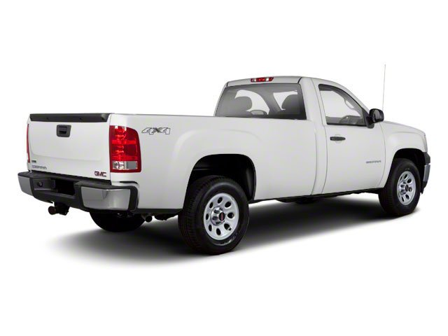 2010 GMC Sierra 1500 Prices and Values Regular Cab SLE 2WD side rear view