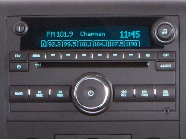2010 GMC Sierra 1500 Prices and Values Regular Cab SLE 2WD stereo system