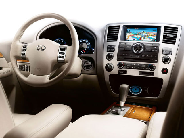 2010 INFINITI QX56 Prices and Values Utility 4D 2WD driver's dashboard