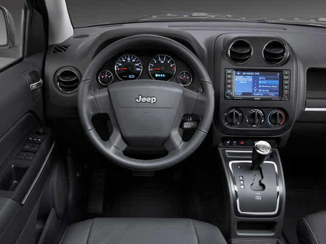 2010 Jeep Compass Prices and Values Utility 4D Sport 4WD driver's dashboard