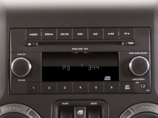 2010 Jeep Wrangler Prices and Values Utility 2D Sport 4WD stereo system
