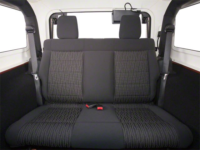 2010 Jeep Wrangler Prices and Values Utility 2D Sport 4WD backseat interior