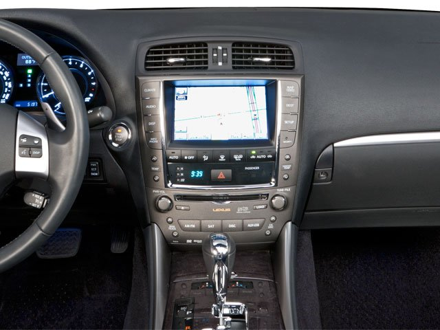 2010 Lexus IS 250C Prices and Values Convertible 2D IS250 center dashboard