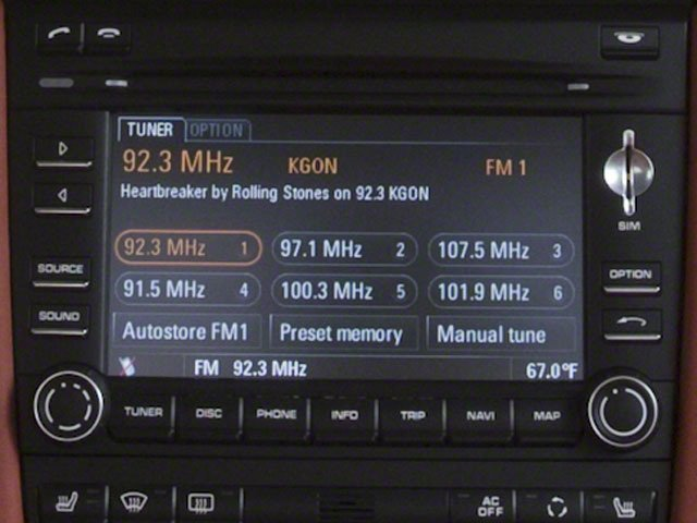 2010 Porsche 911 Prices and Values Coupe 2D S stereo system