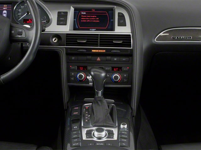 2011 Audi S6 Prices and Values Sedan 4D Quattro center console