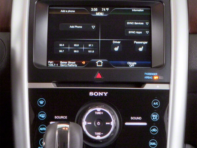 2011 Ford Edge Prices and Values Wagon 4D SE AWD stereo system