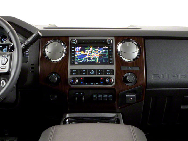 2011 Ford Super Duty F-250 SRW Prices and Values Crew Cab Lariat 4WD center dashboard