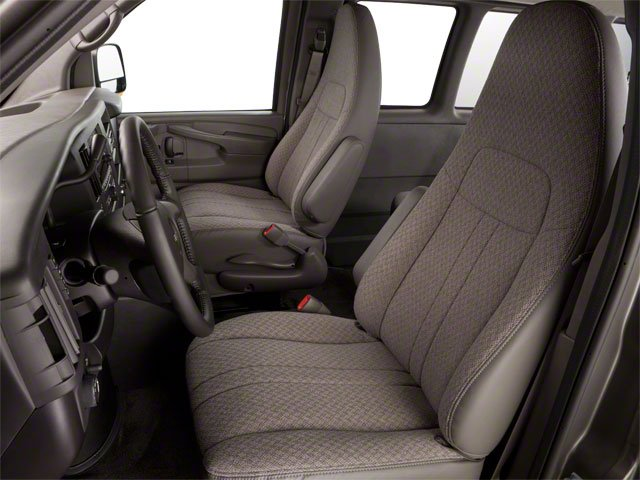 2011 GMC Savana Passenger Prices and Values Extended Savana LS 155  front seat interior