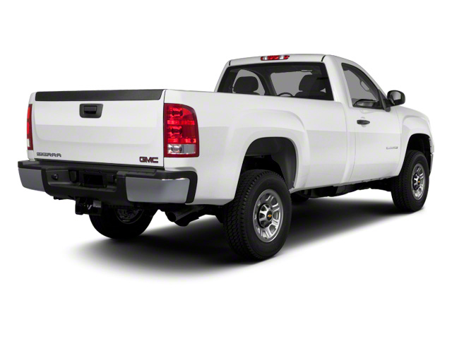 2011 GMC Sierra 3500HD Prices and Values Regular Cab SLE 4WD side rear view