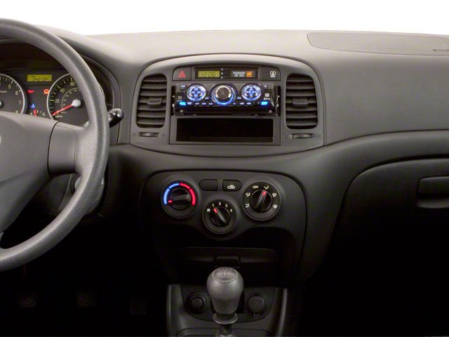 2011 Hyundai Accent Prices and Values Hatchback 3D GL center dashboard