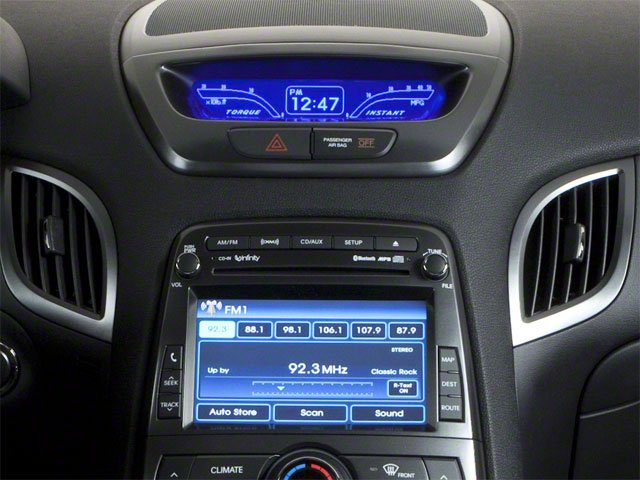 2011 Hyundai Genesis Coupe Prices and Values Coupe 2D R-Spec stereo system