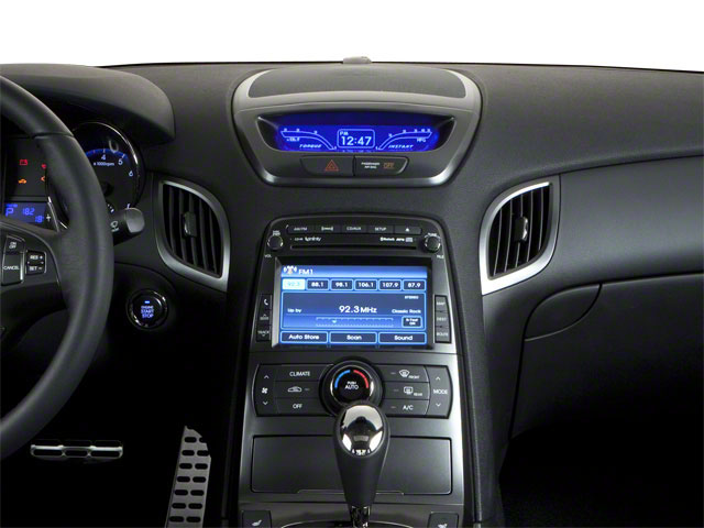 2011 Hyundai Genesis Coupe Prices and Values Coupe 2D R-Spec center dashboard