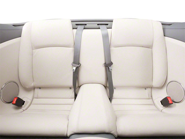 2011 Jaguar XK Prices and Values Convertible 2D backseat interior