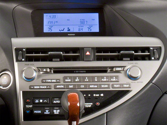 2011 Lexus RX 450h Prices and Values Utility 4D 2WD stereo system