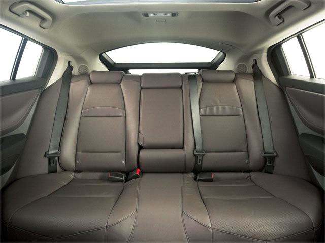 2012 Acura ZDX Prices and Values Utility 4D Advance AWD backseat interior