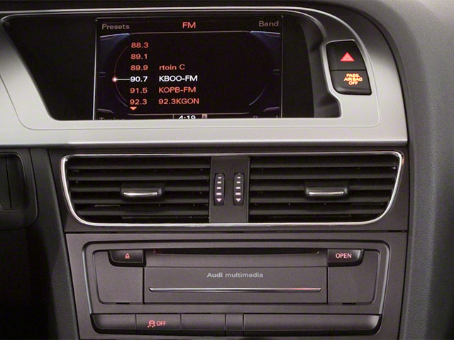 2012 Audi A4 Prices and Values Wagon 4D 2.0T Quattro Prestige stereo system