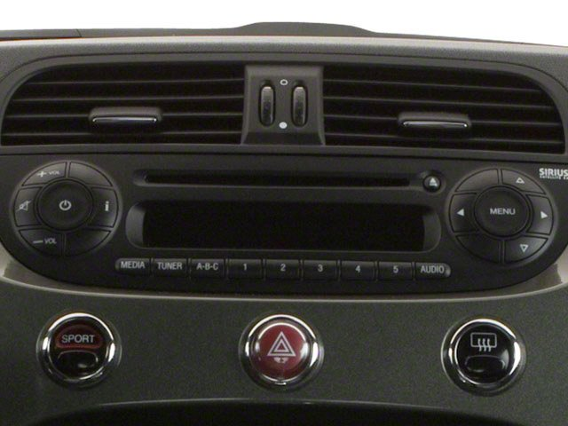 2012 FIAT 500 Pictures 500 Hatchback 3D Sport photos stereo system