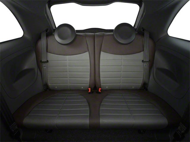 2012 FIAT 500 Prices and Values Hatchback 3D Lounge backseat interior
