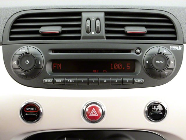 2012 FIAT 500 Prices and Values Convertible 2D Lounge stereo system