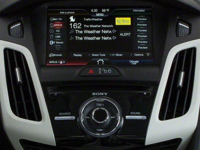 2012 Ford Focus Prices and Values Sedan 4D S stereo system