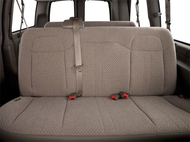 2012 GMC Savana Passenger Prices and Values Savana LT 135  backseat interior