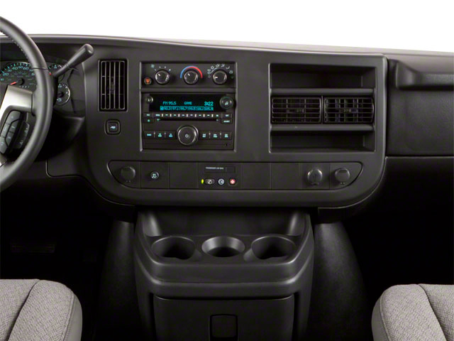 2012 GMC Savana Passenger Prices and Values Savana LT 135  center dashboard