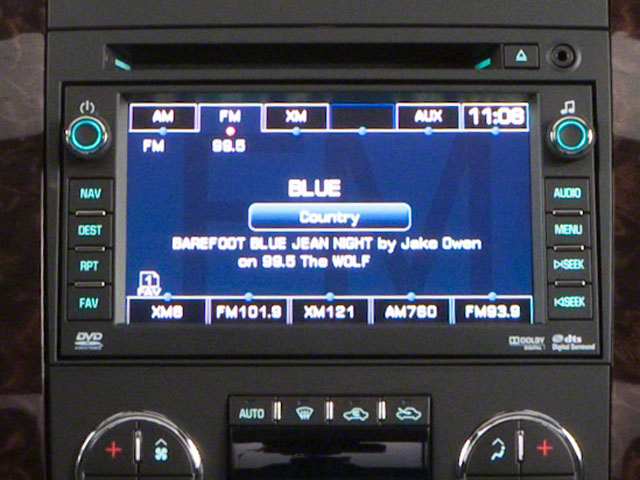 2012 GMC Sierra 3500HD Prices and Values Crew Cab SLT 4WD stereo system