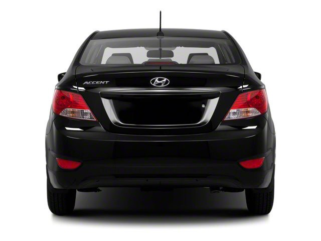 2012 Hyundai Accent Prices and Values Sedan 4D GLS rear view