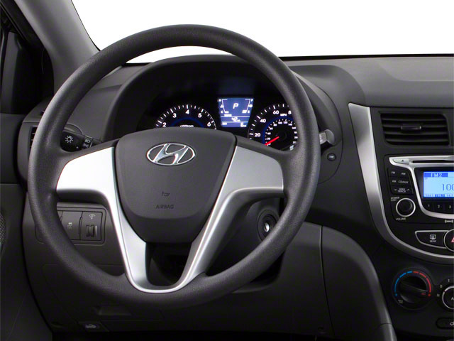 2012 Hyundai Accent Prices and Values Sedan 4D GLS driver's dashboard