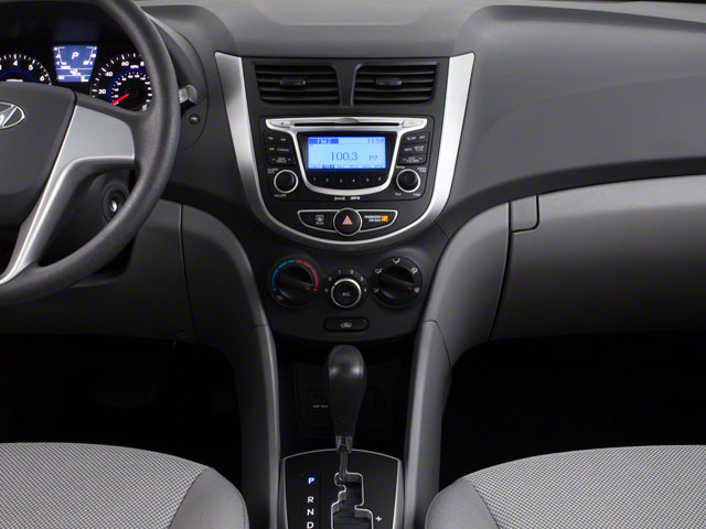 2012 Hyundai Accent Prices and Values Sedan 4D GLS center console